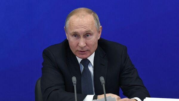 Президент РФ Владимир Путин проводит расширенное заседание президиума Государственного совета РФ. 12 февраля 2019