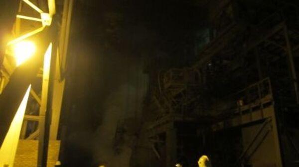 Пожар на Челябинском металлургическом комбинате