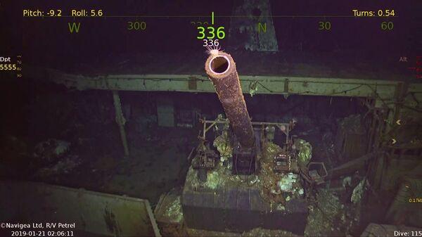 Осмотр затонувшего авианосца USS Hornet