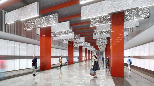 Дизайн-проект станции Мичуринский проспект московского метро