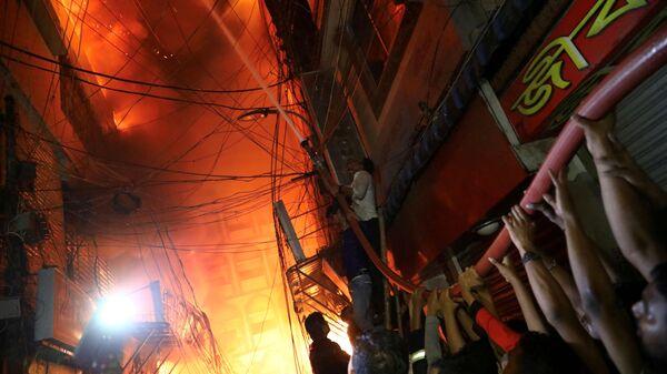 Пожар в Дакке, Бангладеш. 20 февраля 2019