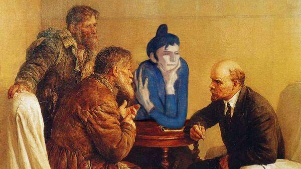 Коллаж художника Андрея Сикорского из серии Арт-трип Любительницы абсента