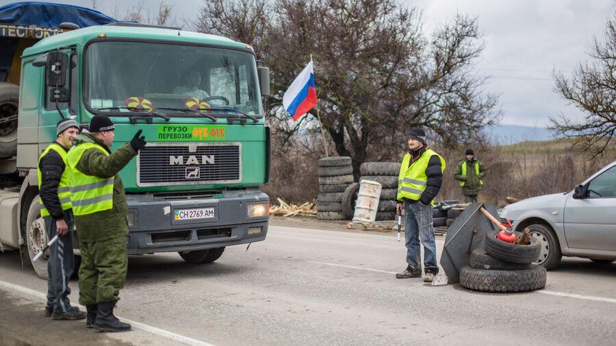 Блокпост на дороге Симферополь - Севастополь