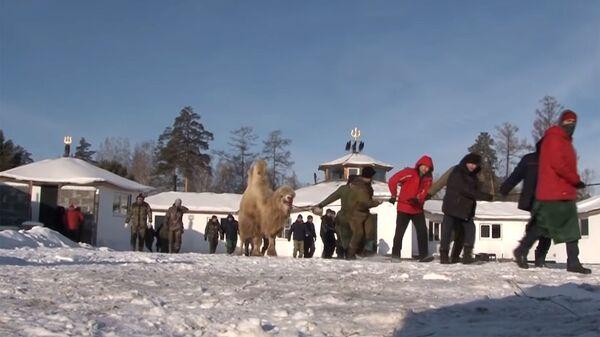 Массовый обряд Жэн тэнгэри яба байкальских шаманов из организации Хухэ Мунхэ Тэнгэри (Вечно синее небо)