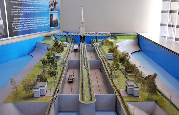 Макет в музее Гидроэнергетики в Угличе