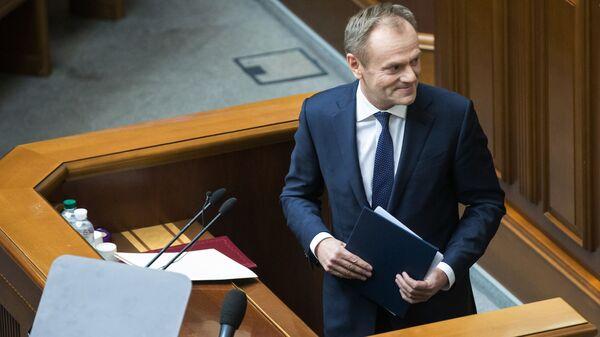 Президент Европейского Совета Дональд Туск на заседании Верховной рады Украины