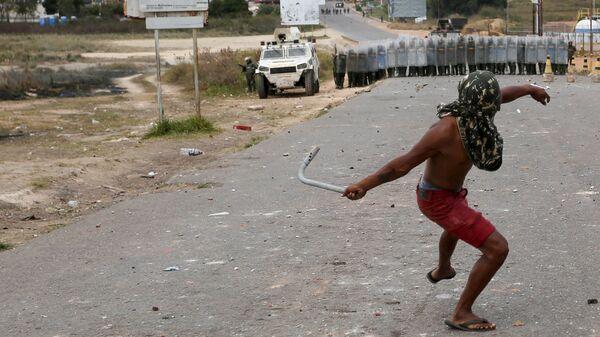 Нападение на венесуэльский погранпост в городе Пакарайма с территории Бразилии