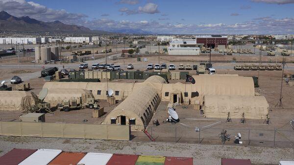 Тренировочный лагерь на территории военной базы США Форт-Худ