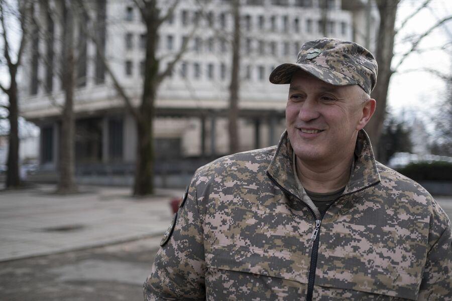 Заместитель командира полка Народного ополчения Республики Крым Виктор Аносов