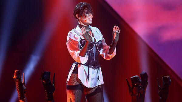 Певица Анна Корсун (MARUV) во время национального финального отбора на конкурс Евровидение