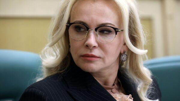 Сенатор, член комитета Совета Федерации РФ по обороне и безопасности Ольга Ковитиди на заседании Совета Федерации РФ