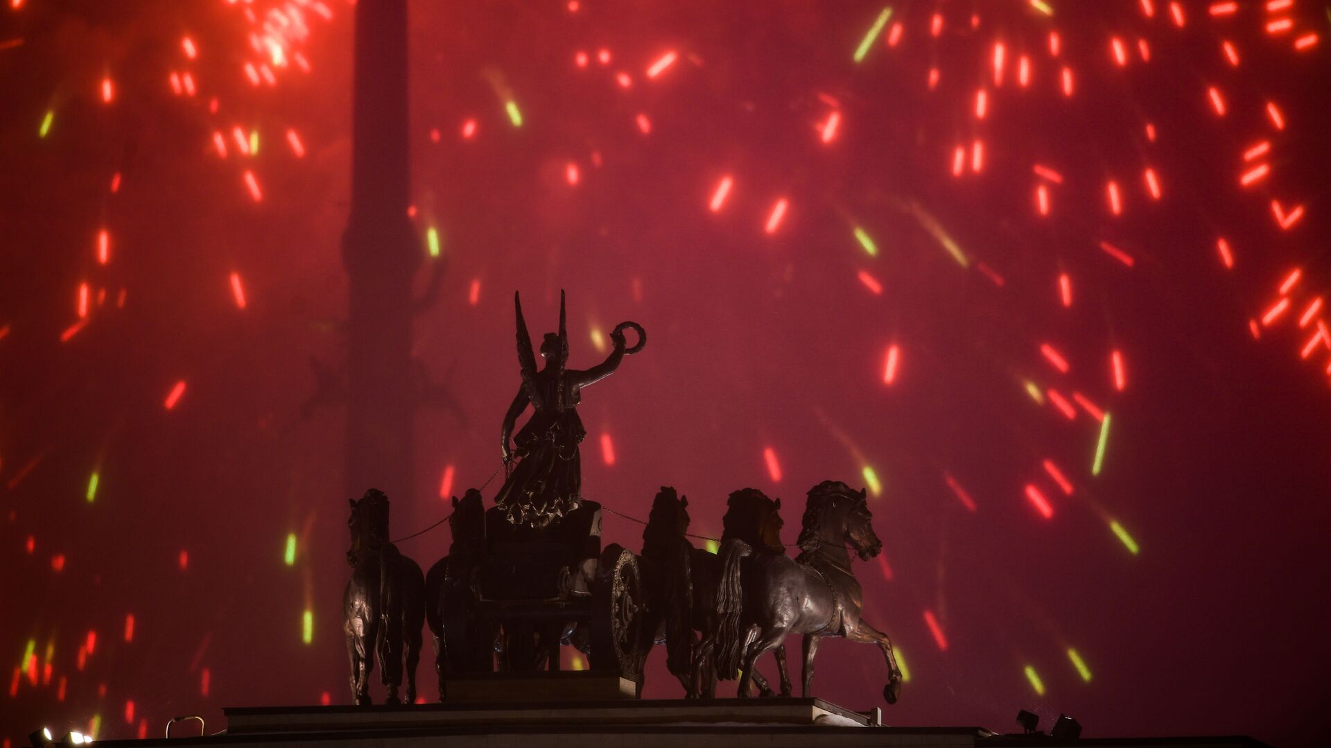 Салют на Поклонной горе в Москве в честь Дня защитника Отечества - РИА Новости, 1920, 18.02.2020