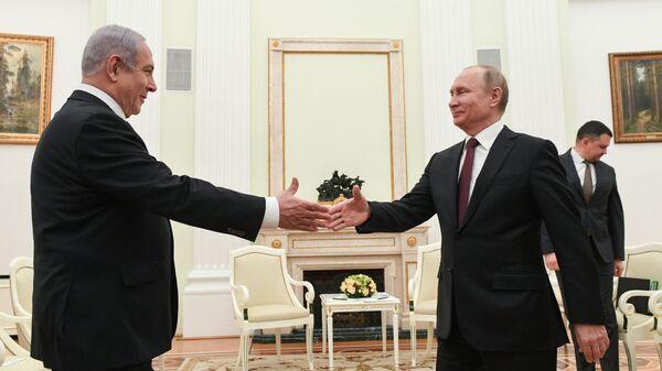 Президент России Владимир Путин и премьер-министр Государства Израиль Биньямин Нетаньяху во время встречи в Кремле. 27 февраля 2019