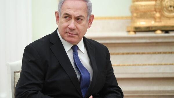 Премьер-министр Государства Израиль Биньямин Нетаньяху во время встречи с президентом РФ Владимиром Путиным. 27 февраля 2019