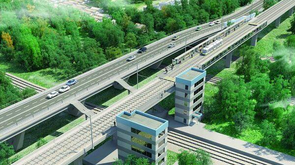Проект эстакады с трамвайными путями на юге Москвы
