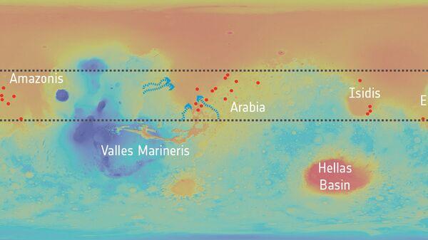 Кратеры и предположительная глобальная сеть подземных резервуаров влаги, объединяющая их