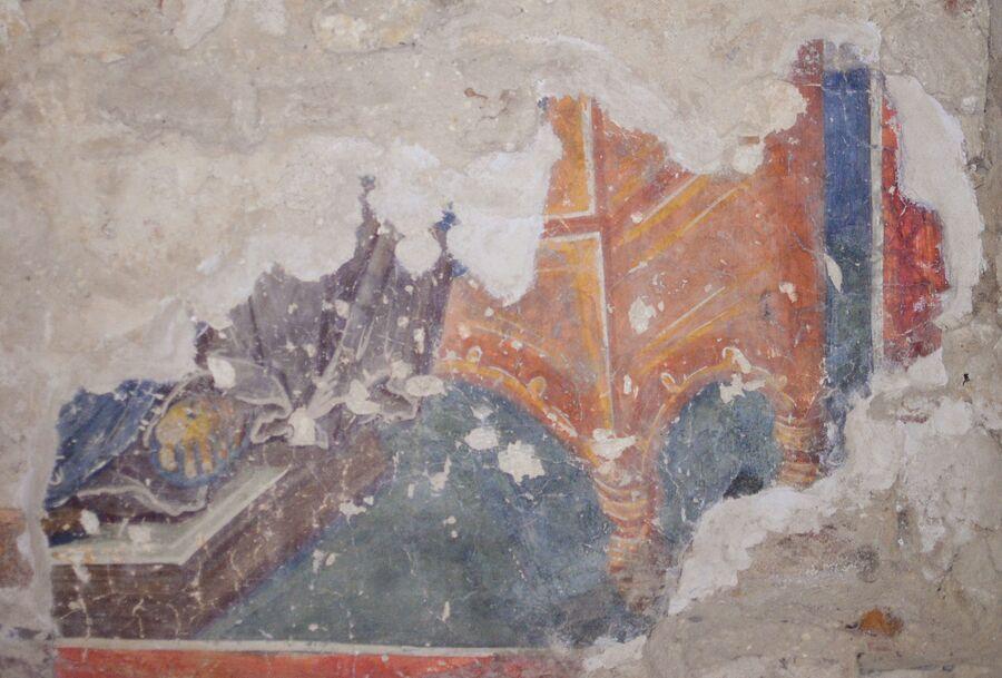 Великий Архиерей или Спас на Троне, фрагмент, полихромный образец фрески Феофана Грека.