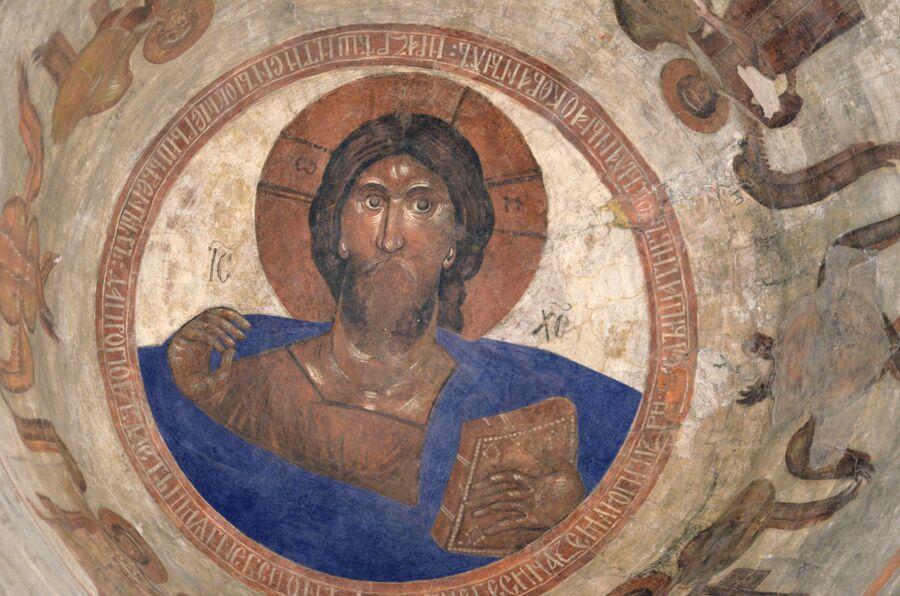 Христос Пантократор – фреска Феофана Грека (раскрашено на компьютере)