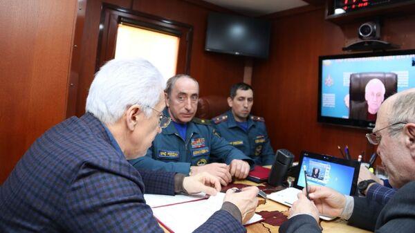 Глава Дагестана Владимир Васильев проводит заседание комиссии по ЧС в Цумадинском районе