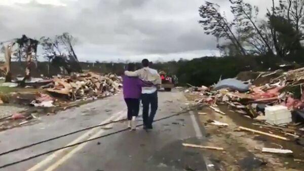 Последствия торнадо в Алабаме, США. 3 марта 2019 года