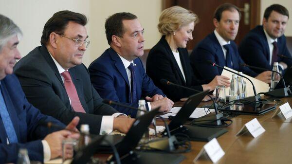 Председатель правительства РФ Дмитрий Медведев во время российско-болгарских переговоров в Софии. 4 марта 2019