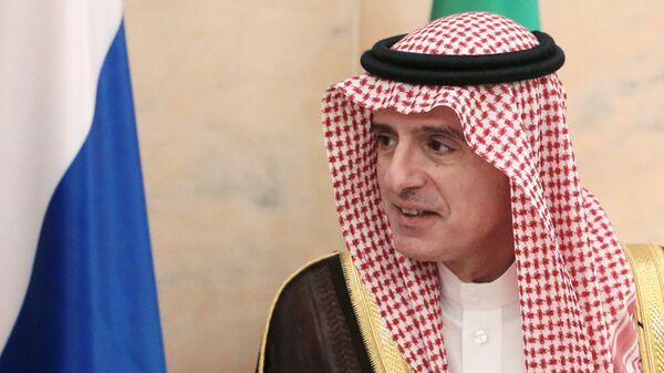Министр иностранных дел Саудовской Аравии Адель аль-Джубейр во время встречи с министром иностранных дел РФ Сергеем Лавровым в Дохе