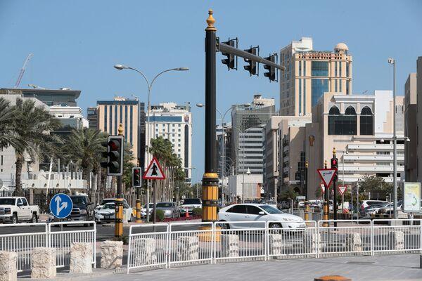 Здания неподалеку от старого рынка в городе Доха