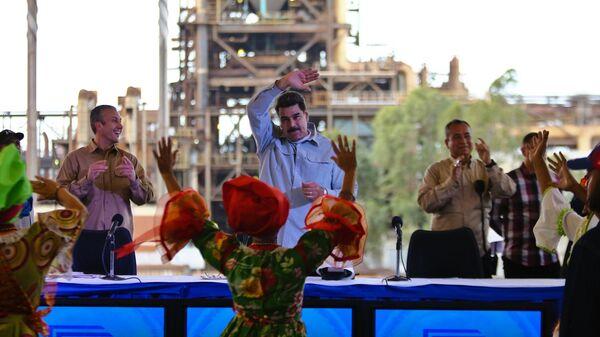 Президент Венесуэлы Николас Мадуро встречи с представителями добывающих компаний в Гуаяне, Венесуэла. 6 марта 2019