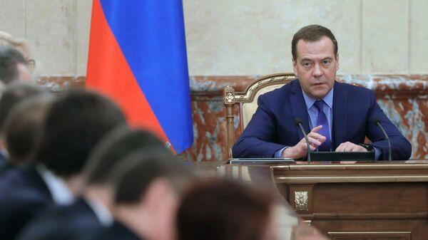 Председатель правительства РФ Дмитрий Медведев проводит заседание правительства РФ. 7 марта 2019