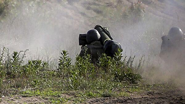 Испытания американских противотанковых ракетных комплексов Джавелин (Javelin) на военном полигоне на Украине
