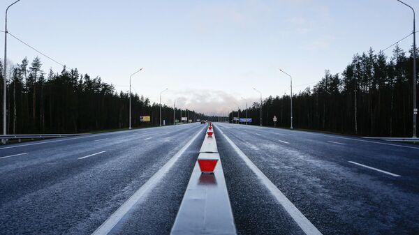 Реконструированный участок дороги