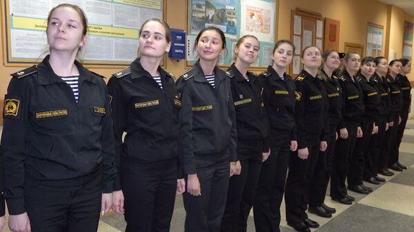 Девушки во флоте: как курсантки учатся на моряков