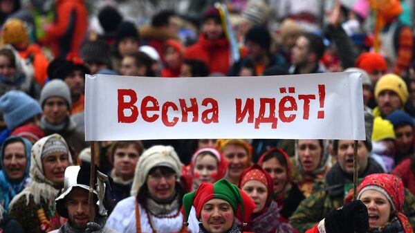 Участники Бакшевской Масленицы в Истринском районе Московской области