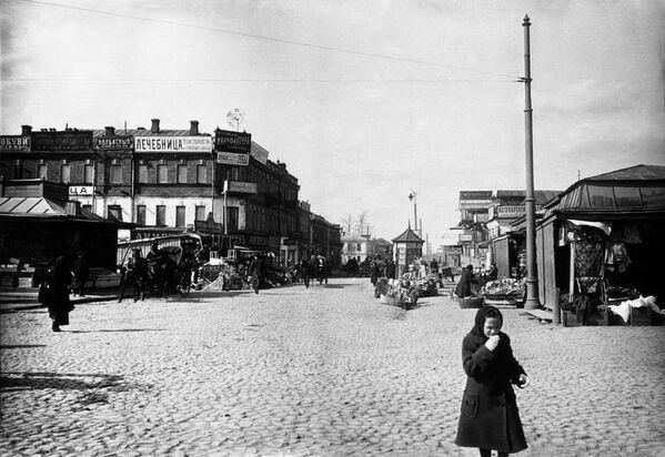 Старая Москва. Александровская улица (сейчас Октябрьская) в Марьиной Роще