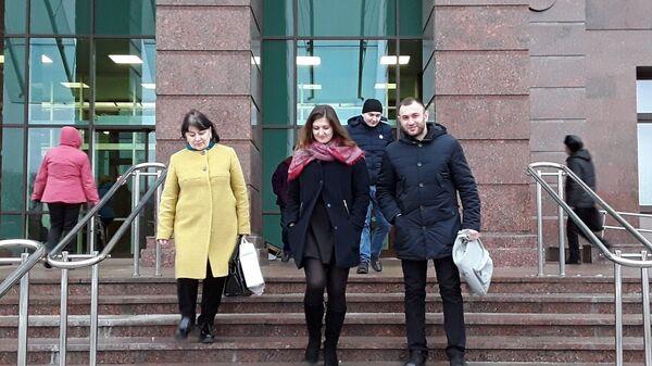 Алан Габараев у здания суда