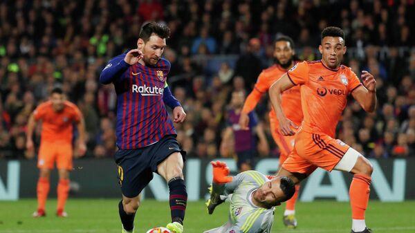 Матч Лиги чемпионов Барселона - Лион
