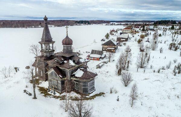 Церковь Иоанна Предтечи в деревне Леликово в Медвежьегорском районе Республики Карелия