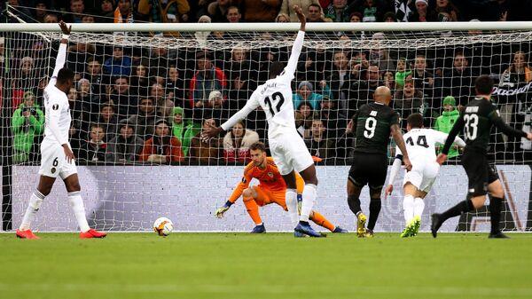 Игровой момент матча Краснодар - Валенсия