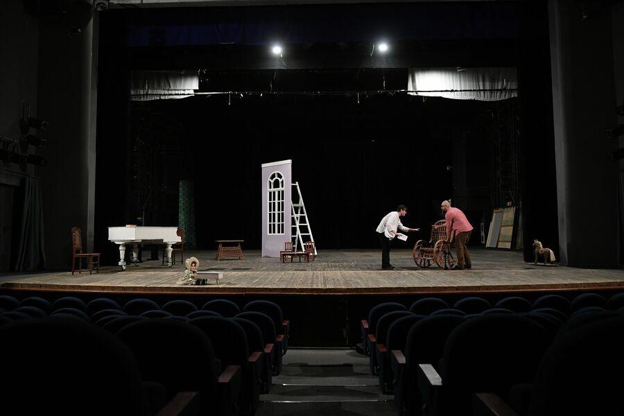 Репетиция в саровском драмтеатре