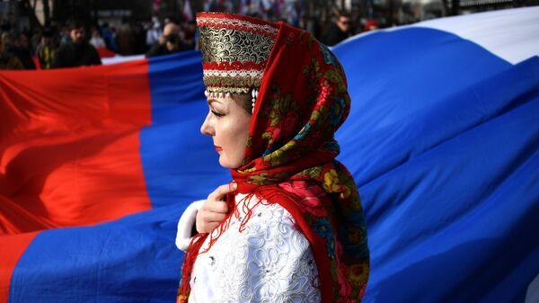 Празднование 5-й годовщины воссоединения Крыма к России в Симферополе