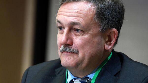 Первый заместитель руководителя ФТС России Руслан Давыдов во время 81-го заседания Экономического совета СНГ в Москве. 15 марта 2019