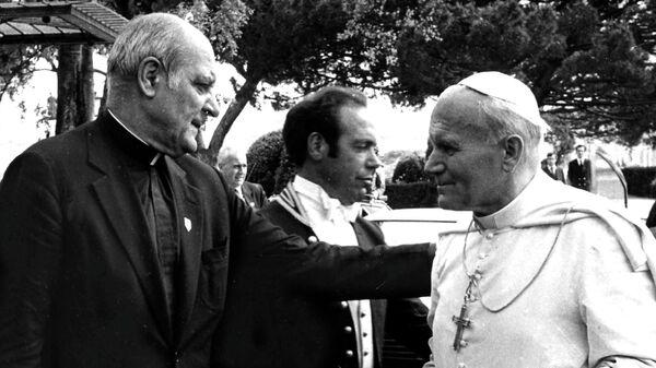 Папа Римский Иоанн Павел IIи кардинал Пол Марцинкус