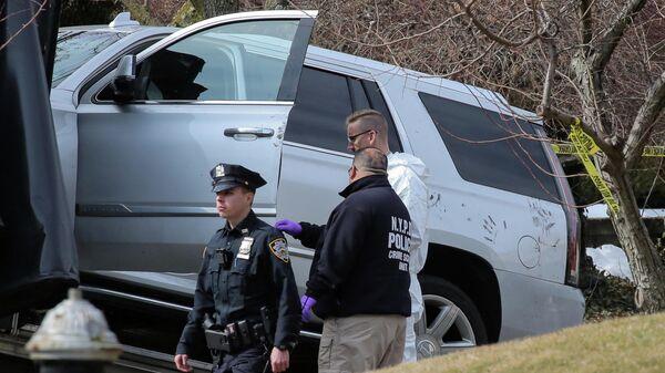 Следователи на месте убийства главы нью-йоркской мафии Франческо Кали. 14 марта 2019