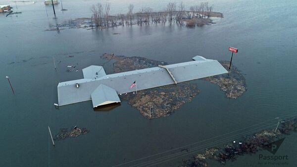 Последствия наводнения в штате Айова, США