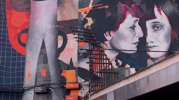 Портрет Анны Ахматовой художника Марата Морика в Мадриде, Испания