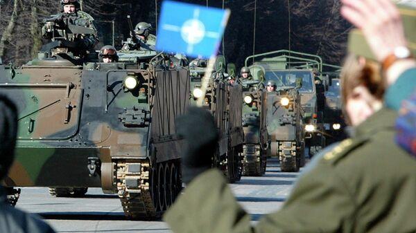 Парад в честь вступления трех стран Прибалтики в НАТО в Вильнюсе. 2004 год