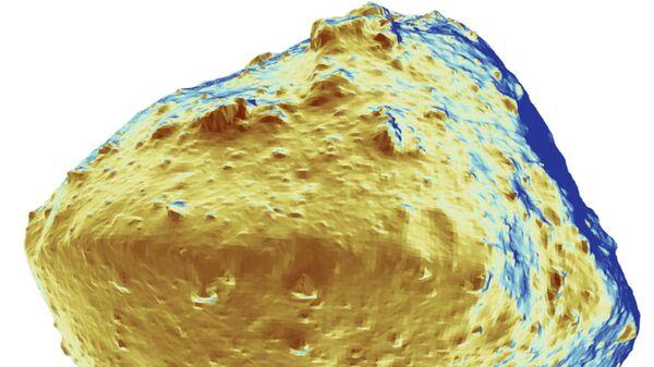Карта распределения воды по поверхности астероида Рюгю