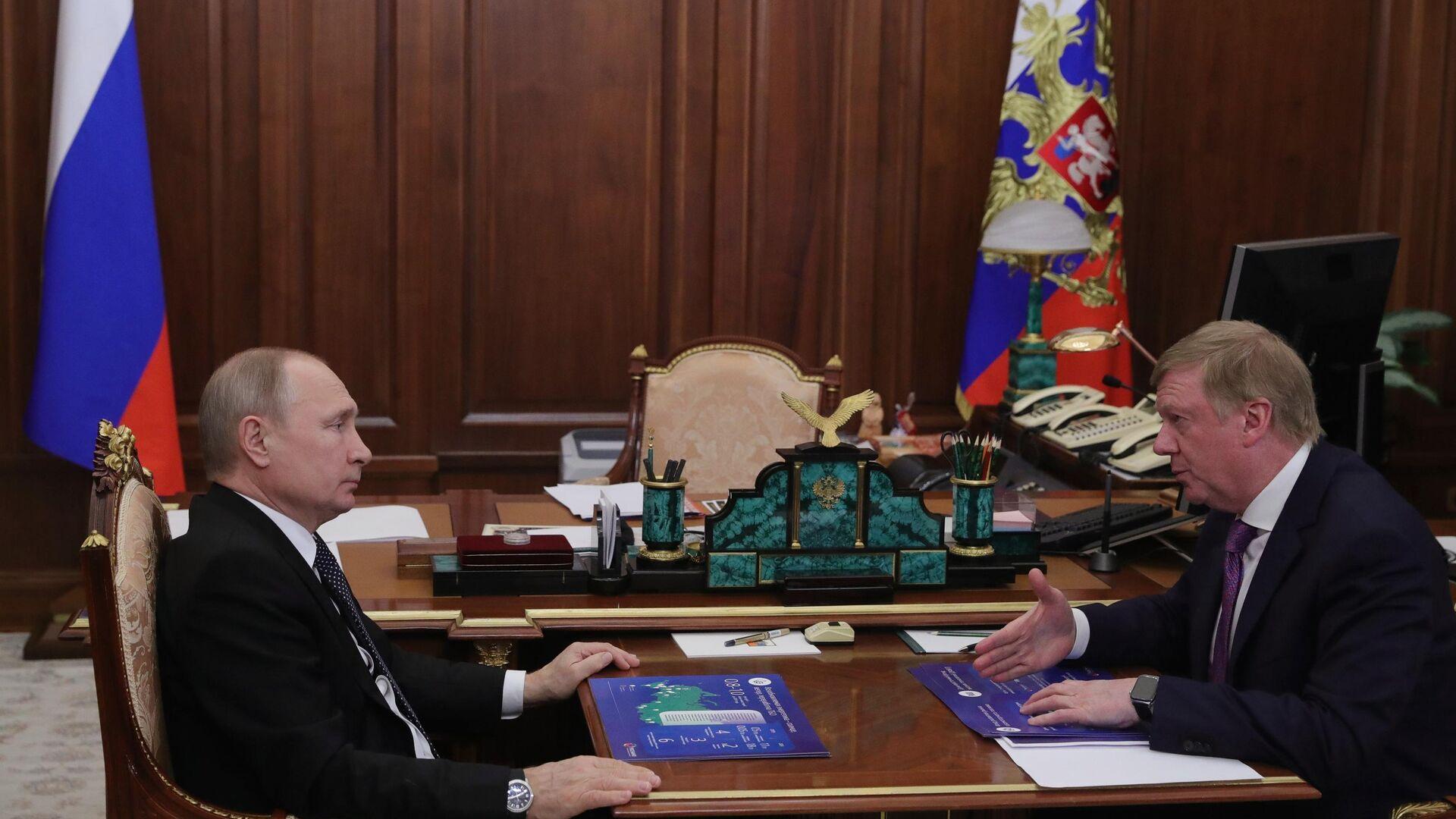 Песков рассказал о контактах Путина с Чубайсом