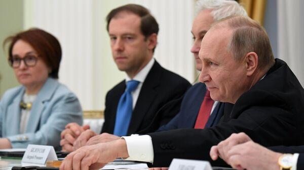 Президент РФ Владимир Путин во время встречи с представителями деловых кругов Великобритании. 20 марта 2019