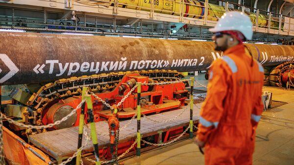 Завершение морской укладки газопровода Турецкий поток, 19 ноября 2018 года